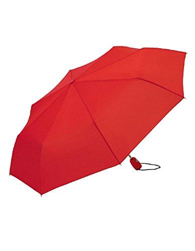 Fare®-AOC Mini Taschenschirm Automatik Sturmschirm automatisch öffnend und schließend, Farbe:RED