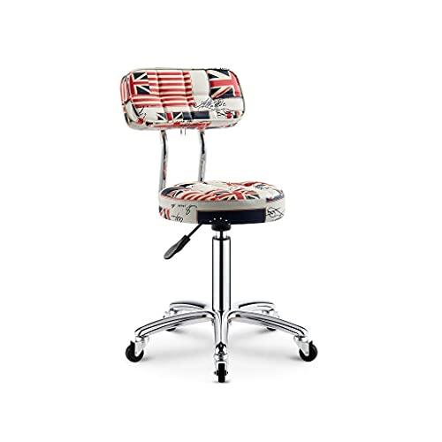 ZXJ Friseur-Barber-Shop-Hocker, rotierende Hubscheibe, Beau-Hocker, Arbeitsbank, Makeup-Hocker, Barhocker (Farbe: c) (Farbe: f) (Color : C)