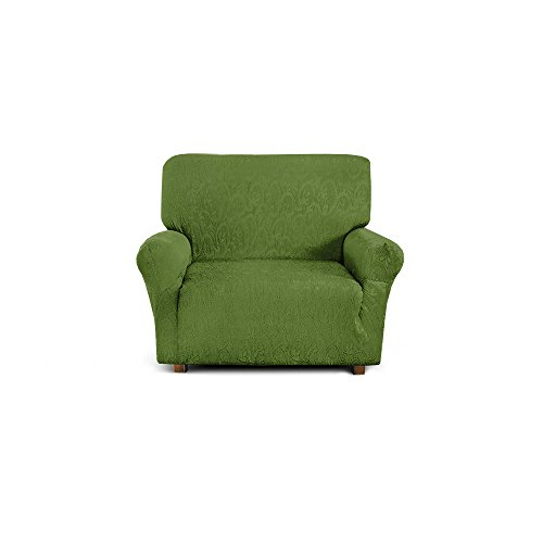 Corredocasa - Copripoltrona Elastico, Poliestere-Cotone, Verde, da 85 a 110 cm