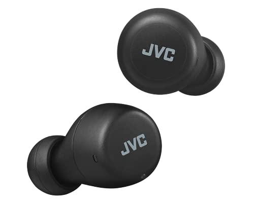 JVC Gumy Mini True Wireless Earbuds [Amazon Exclusive Edition] Auriculares Inalámbricos,  Bluetooth 5.1,  ResistenciaAgua (IPX4),  Gran Duración de la Batería (hasta 15 Horas) -  HA- Z55T- B (Negro)