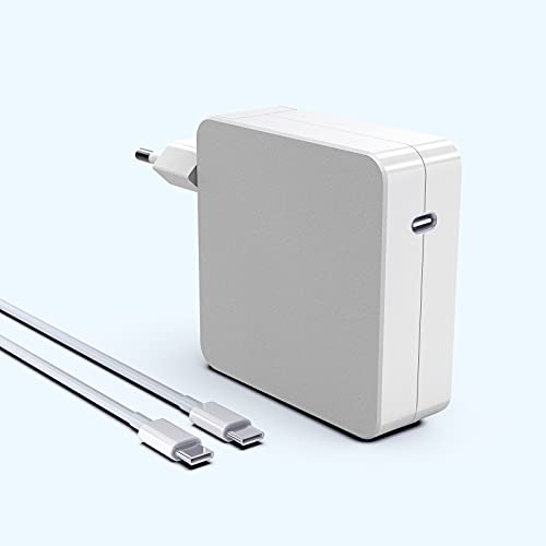 """Cargador Mac Book Air Adaptador Corriente USB C 61W Compatible con Mac Book Pro MacBook 13"""" 12"""" ASUS, Acer, DELL, Xiaomi Air, Huawei Matebook, HP Spectre, Thinkpad y Cualquier Otra Cable USB C 6.6ft"""