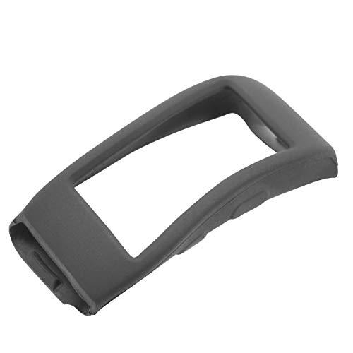 vhbw Hülle Cover passend für Samsung Gear Fit 2, Fit 2 Pro SM-R360, Fit 2 Pro SM-R365 Fitnesstracker, Smartwatch - schwarz, Silikon