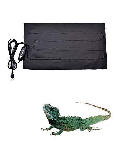 SHOH Manta Termica Reptiles, Ajustable Reptil Heat Mat con Control De Temperatura para Terrario Reptiles Tortuga, Tortuga, Serpientes, Lagartos, Geckos, Arañas - Reptil Almohadilla Térmica