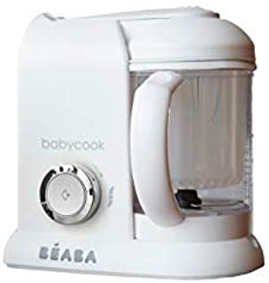 BEABA Babycook 4 in 1 Steam Cooker & Blender and Dishwasher Safe, 4.5 Cups, White