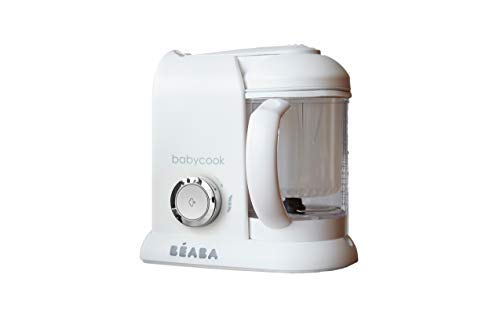 BEABA Babycook 4 in 1 Steam Cooker & Blender and Dishwasher Safe, Cook at Home, 4.5 Cups, White