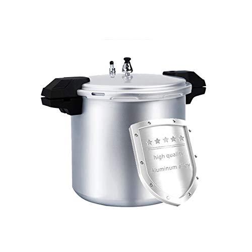YUFHBDI Der Druckkocher Aus Aluminiumlegierung Eignet Sich Für Große Familien-, Große Druckkocher Und Großer Kapazitäts-Handelshotel-Gasherd Für 21l Geeignet (Color : Silver)