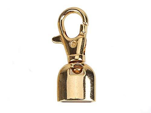 Mosquetón metálico con campana para pulseras, colgantes, bolsos, monederos, diámetro de 14 mm, color dorado
