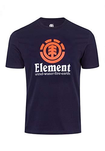 Element Vertical SS, Maglietta Uomo, Blu (Eclipse Navy 3918), L
