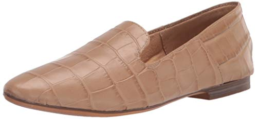 Naturalizer womens Lorna Loafer Ballet Flat, Bamboo Crocco, 8.5 Wide US