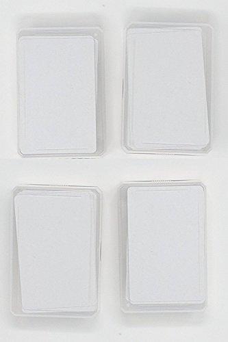 the lazy panda card company Spielkarten Blanko 4 x 60 Blanko Spielkarten mit abgerundeten Ecken zum kreativen selber gestalten.