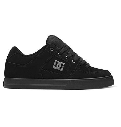 DC Men's Pure Skate Shoe, Black/Pirate Black, 13 D US