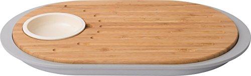 Berghoff Leo Doble Cara Cable de Tapas Tabla de Cortar de bambú...