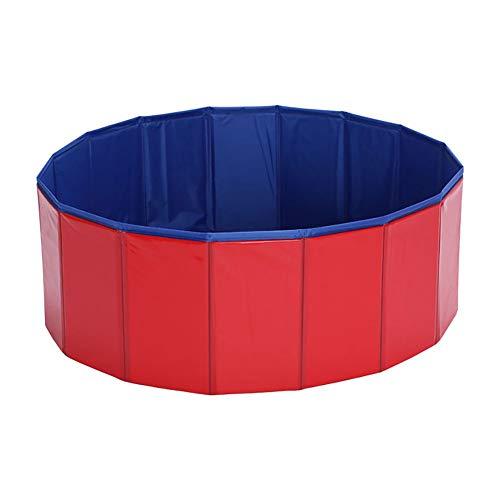 Urisgo Doggy Pool voor honden met zwembad, pool voor honden, van pvc, opvouwbaar, voor huisdieren, met afvoeropening, douche gereedschap voor douche en zwembad