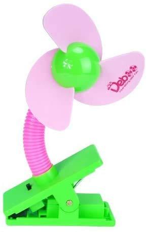 Mini ventilatore USB portatile, sicuro, con pinza robusta, per passeggino bebè/culla/scrivania, colore rosa