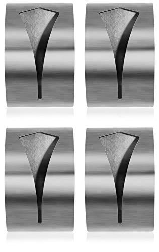 com-four® 4X Handtuchhaken selbstklebend, Handtuchhalter aus rostfreiem Edelstahl, Kleiderhaken ohne Bohren (04 Stück)