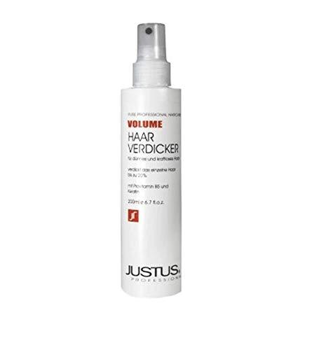 Justus Haarverdicker 200ml Volume Spray (1 Stück) mit Spezialkamm