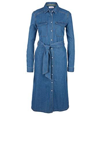 s.Oliver Damen Jeanskleid mit Druckknopfleiste Blue 34