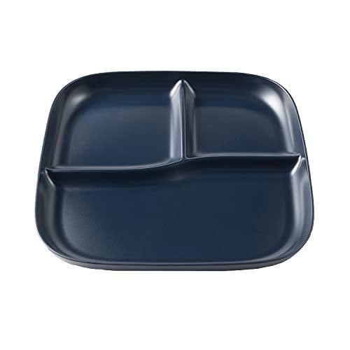 アサヒ興洋 ランチプレート 仕切り皿 ネイビー カフェ風 落ち着いた色合い 食洗機対応 電子レンジ対応 日本製 Solow Diner AZ19-31 1枚入