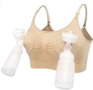 Women Breastfeeding Push Up Free Hand Breast Pump Maternity Nursing Bra
