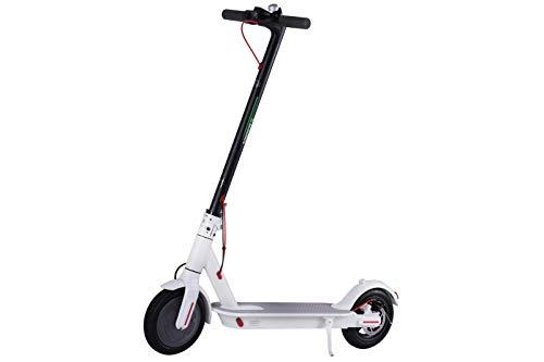 4MOVE Scooter eléctrico Flodable ligero E-scooter con control de APP para adolescentes y adultos bicicleta blanca.
