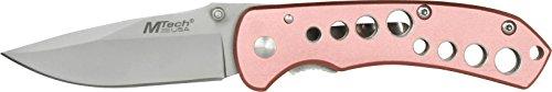 MTECH USA Couteau de Poche Rose poignée en Aluminium, Longueur fermé en cm : 8.89, mtec de 1086