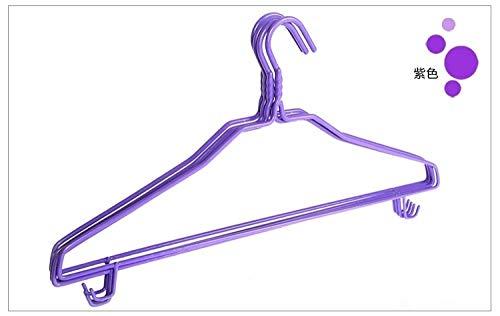 zhaoyangeng 5 Stks Duurzame Metalen Hanger Kleding Jas Pvc Coated Hangers Broek Jurk Wasserij Drogen Thuis Organisatie Opslag@Paars