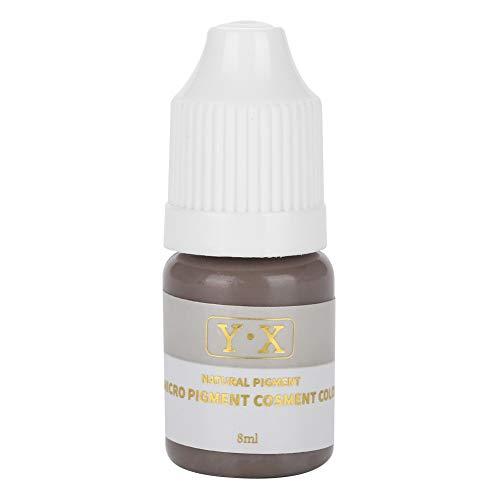 Tinta del tatuaje para el pigmento de Microblading de la ceja, Tinta del tatuaje Maquillaje semipermanente Labios de la ceja Línea de ojos 5 colores (Gris y café (ceja))