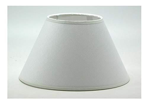 Paralume Prime Moderno Cappello Cinese d40 Tessuto Bianco e PVC - Produzione Propria - Made in Italy (cm 40)