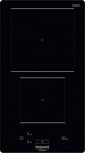 Piano cottura ad induzione da 30 cm in vetroceramica, N° 2 Fuochi, colore Nero