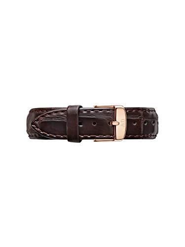 Daniel Wellington Classic York, Braun/Roségold Uhrenarmband, 18mm, Leder, für Damen und Herren