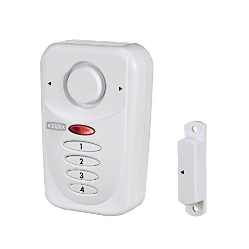 Xavax Alarmanlage für Fenster oder Tür, magnetischer Einbruchschutz mit PIN-Code