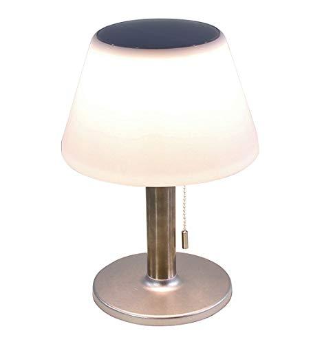LED Solar Tischlampe in warmweiß - 27,5x19,5 cm / 10 LEDs - Outdoor Solarlampe Gartenlampe Tisch Leuchte Außen