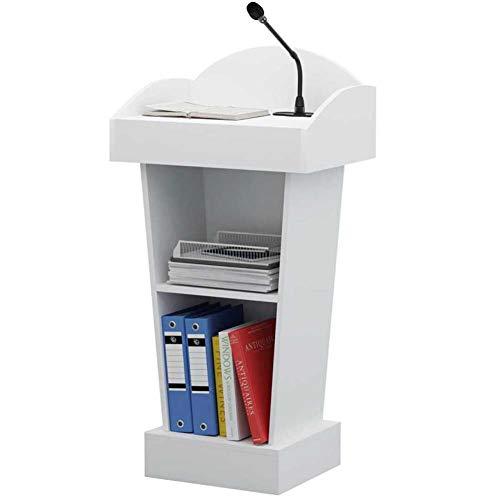 SQINAA Stand up leggio,Podio improvvisato Workstation Supporto per Computer Portatile Notebook per la Scuola L'azienda Sala riunioni-A 60x40x103cm(24x16x41)