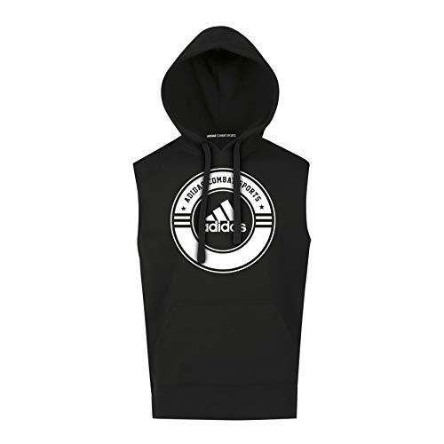 adidas Combat Sports Line Sudadera con Capucha, Negro/Blanco, XS para Hombre