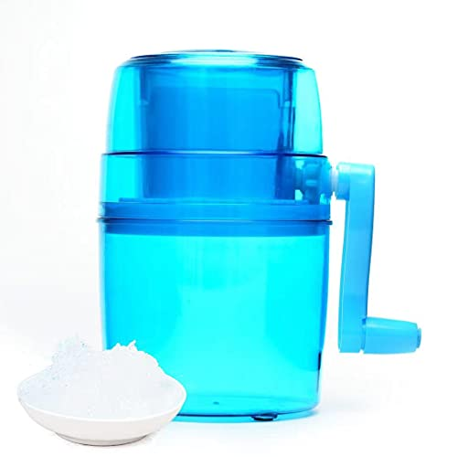 Ice Crusher, Portable Crushed Ice Maker,Manual Shaved Ice Machine, Icee Slushie Machine with Dual Stainless Steel Blades, Ice Cube Crusher for Cold Drink,Cold Juice Make
