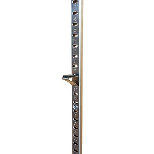 便利棚(べんりだな)棚柱(棚受けレール)ハシゴタイプ・ステンレス製・全長1820mm