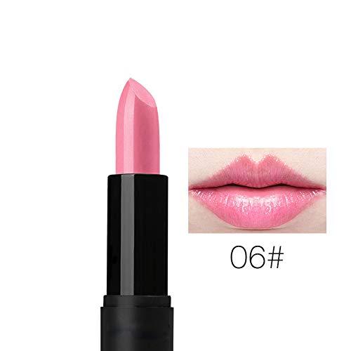BHUJYG 8 Farben Matte Lippenstift Makeup Feuchtigkeit glatt Velvet Lippenstift Nude Lip Gloss Wasserdicht Langlebige Batom Rouge Makeup,06