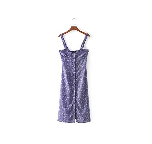 Summer Ruffle Backless Privacy Dress Women on White Dot Beach Dress 2019 Vintage flMouth red Pencil Dress,Purple,L
