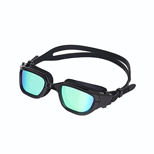 DSJGVN Gafas de Natación Polarizadas, Protección Anti-Vaho sin Filtraciones Visión Clara Fáciles Ajustar con Puente Nasal Suave Para Hombres Mujeres Adultos y Adolescentes
