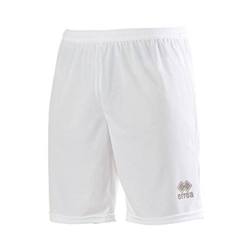 MAXI SKIN AD Trainingshose (knielang) von Erreà · ERWACHSENE Herren Damen Trainingsshorts (kurz) · REGULAR-FIT Bermuda Sporthose (komfortabel) für Teamsport · PERFORMANCE Running Sport Shorts (strapazierfähig) aus Polyester-Material · (Farbe weiß, Größe XXL)