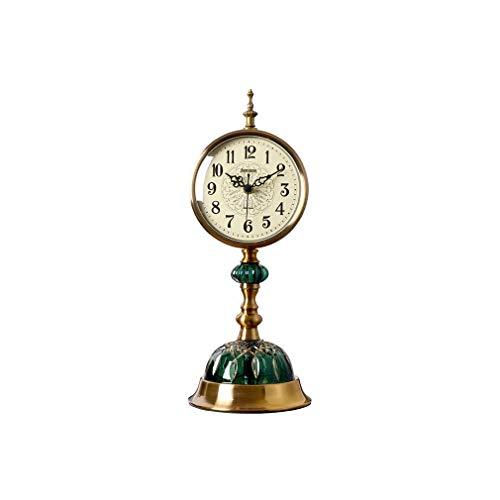 Orologi da mensola con ornamenti, Orologio da tavolo da scrivania Muto Metallo / Vetro artistico Orologi da scrivania e mensole Orologi da tavolo retrò al quarzo Regalo per la decorazione della casa