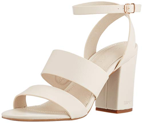 Esprit Damen 041EK1W338 Sandale, 110 Off White, 37 EU