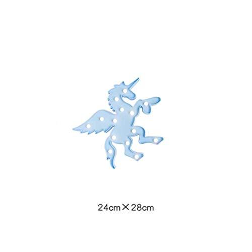 MTX Ltd Nuit Lumière Bleu Pegasus Ins Vent Doux Salle Soeur Décoration Cactus Licorne Fille Coeur Chambre Creative Petite Nuit Lumière Ornements