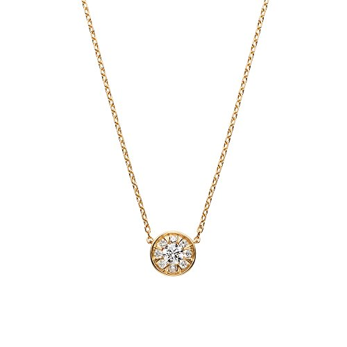 [ヴァンドーム青山] ダイヤモンド 0.1ct イエローゴールド K18 ネックレス AGVN630045DI