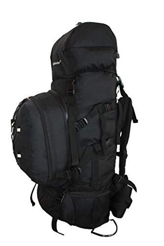 80L Wander Camping Reise Trekking Rucksack mit abnehmbaren Daypack Black Edition