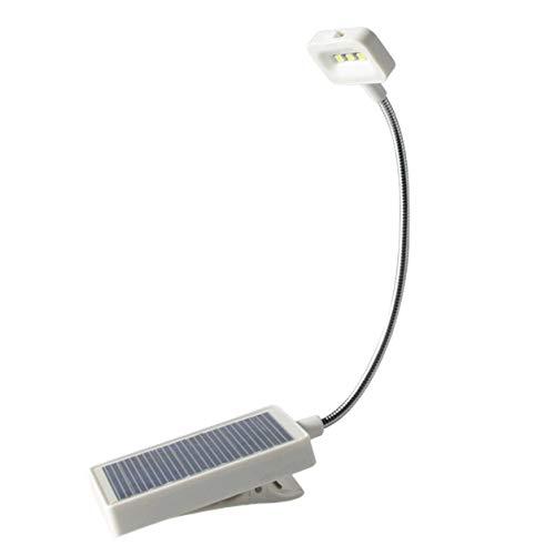 Kongqiabona-UK Lámpara de Mesa pequeña Solar Lámpara de Clip de Libro Dormitorio de Lectura Aprendizaje Lámpara de Mesa pequeña móvil Lectura Protección Ocular Sensor táctil Encendido
