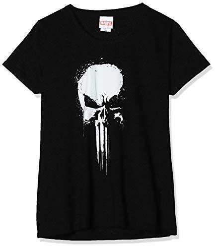 Marvel Damen Knights Paintspray Skull, Schwarz (Black Blk) XL-T-Shirt, 40 (Herstellergröße: X-Large)