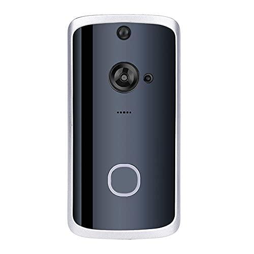 OUYA Cámara De Timbre con Video WiFi, con Cámara HD De 720P, Audio Bidireccional, Detección De Movimiento PIR, Visión Nocturna, 3 Días De Almacenamiento En La Nube