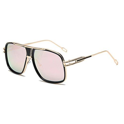 Honestyi Damen Herrenmode Quadrate Metallrahmen Marke Klassische Sonnenbrillen BZ576 Quadratische Sonnenbrille für Männer und Frauen