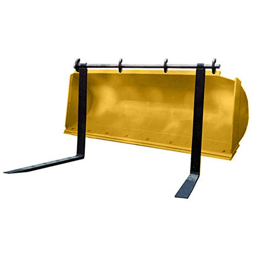 "Titan Attachments 48"" Pin Type Over The Bucket Backhoe Loader Pallet Forks Tractor case Deere Hook"